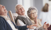 seniors laughing on porch 78531136