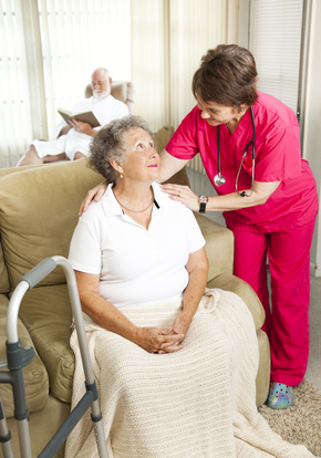 Hospice Patient with Caregiver